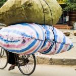 Bepacktes Fahrrad - Hanoi - Vietnam