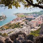 Kroatien, Blick auf Omis und Cetina