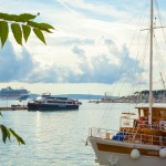 Kroatien, Split, Kreuzfahrtschiff