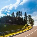 Schwarzwald, kurvige, steile Strasse